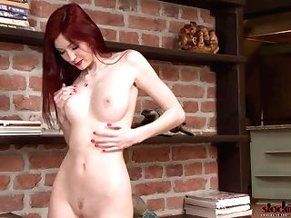 Stockingvideos - Flamy Retro Ginger-haired Bi-atch Katie Gold