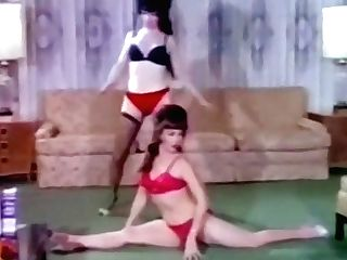 Disrobing Housewives - Antique 60's Cuties Dance & Unwrap